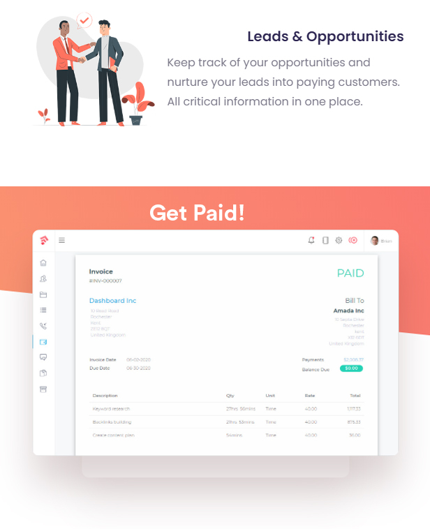 Grow - Project Management CRM With Invoicing Estimates Leads And Tasks - 12
