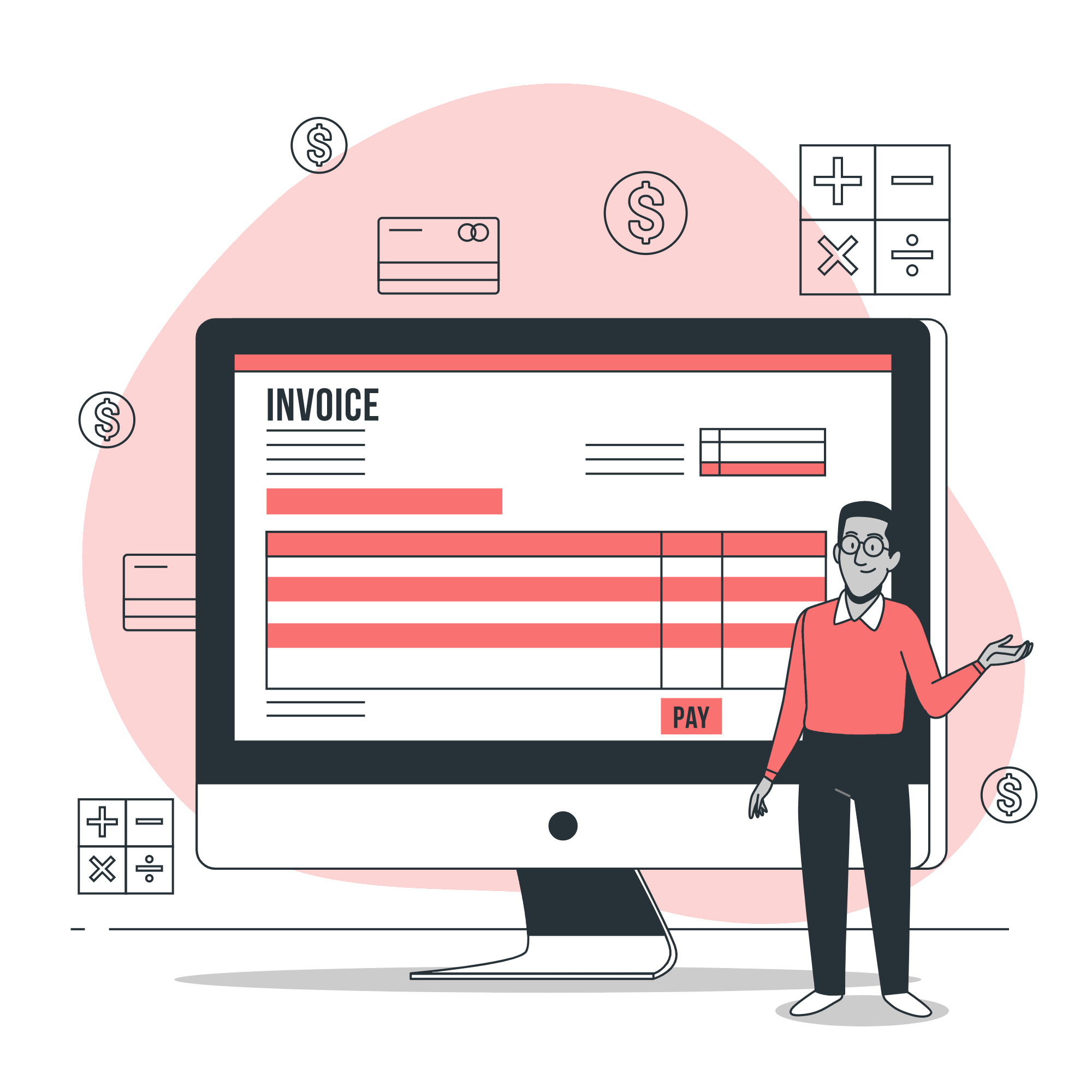 Invoice your customers <br>and get paid